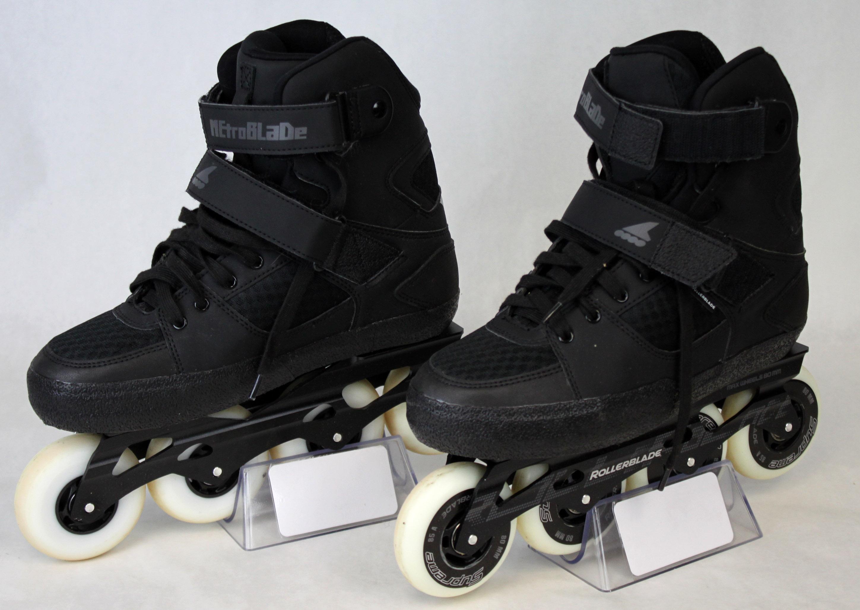 rollerblade metroblade c urban inline skates 7 5 black euc ebay