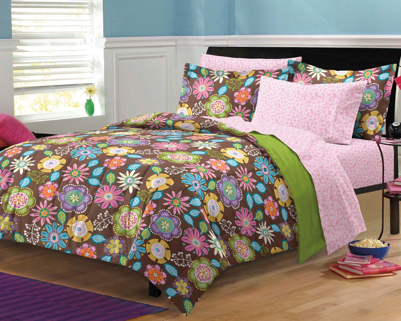 Girls Twin Comforter: NEW Boho Garden Teen Girls Bedding Comforter Sheet Set