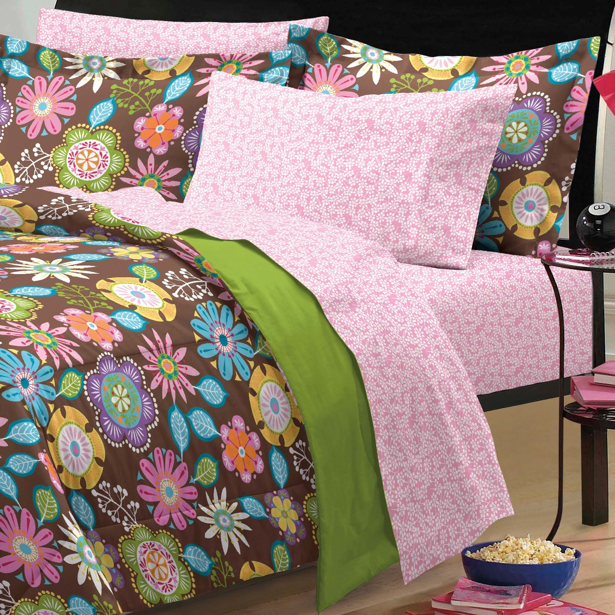 new boho garden teen girls bedding comforter sheet set twin twin xl ebay. Black Bedroom Furniture Sets. Home Design Ideas