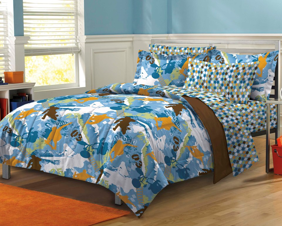 NEW Extreme Sports Blue Teen Boys Bedding Comforter Sheet