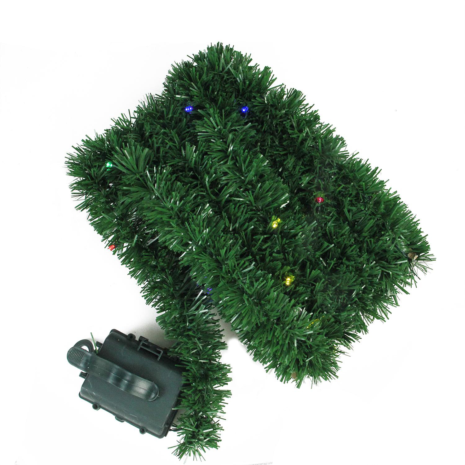 Artificial Christmas Garland.Details About Brite Star 18 B O Green Pine Artificial Christmas Garland Multi Twinkle Light