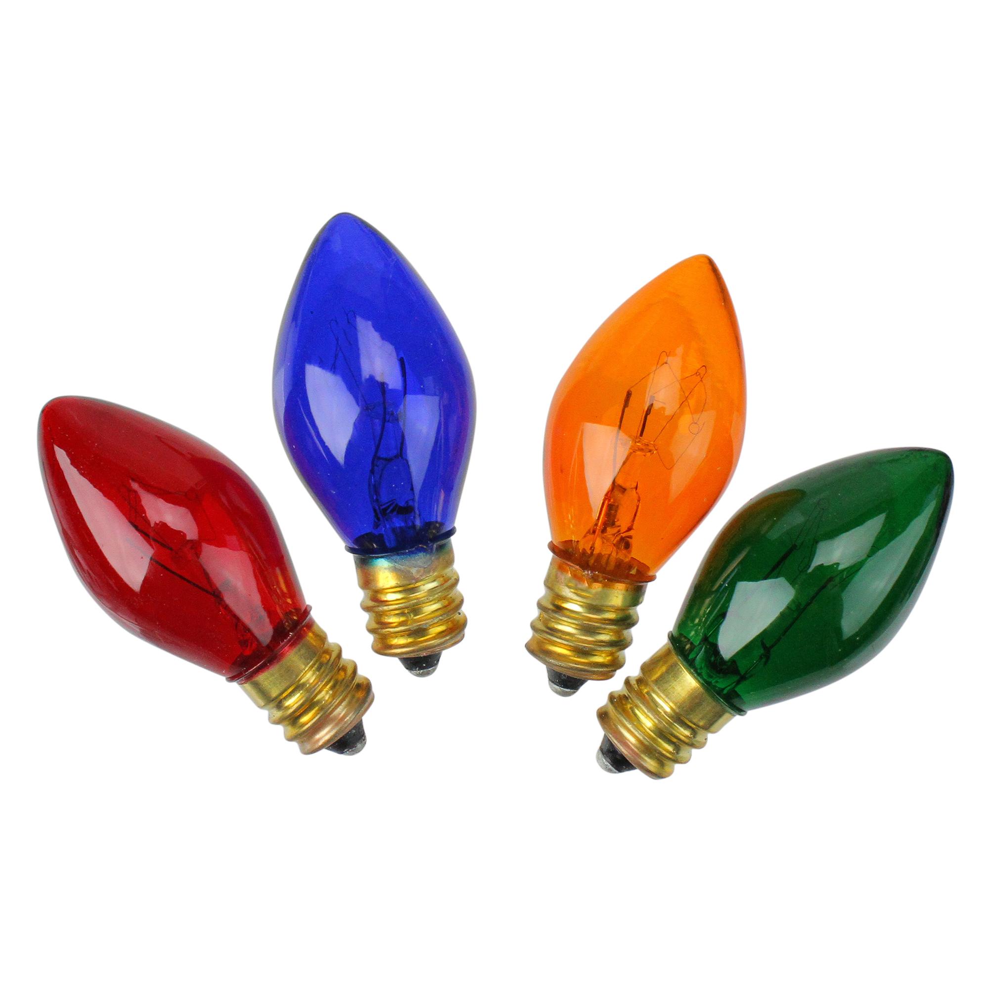 J Hofert 4Pk C7 Orange Ceram Bulb
