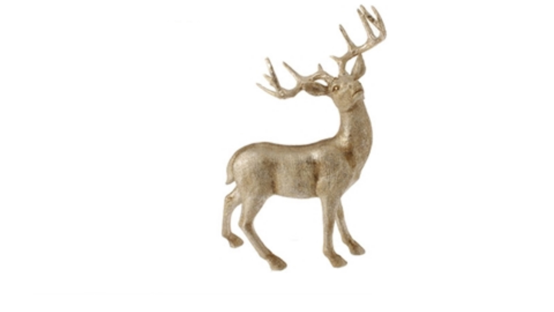 """Raz 20.5"""" Champagne Gold Standing Deer Looking Right Table"""