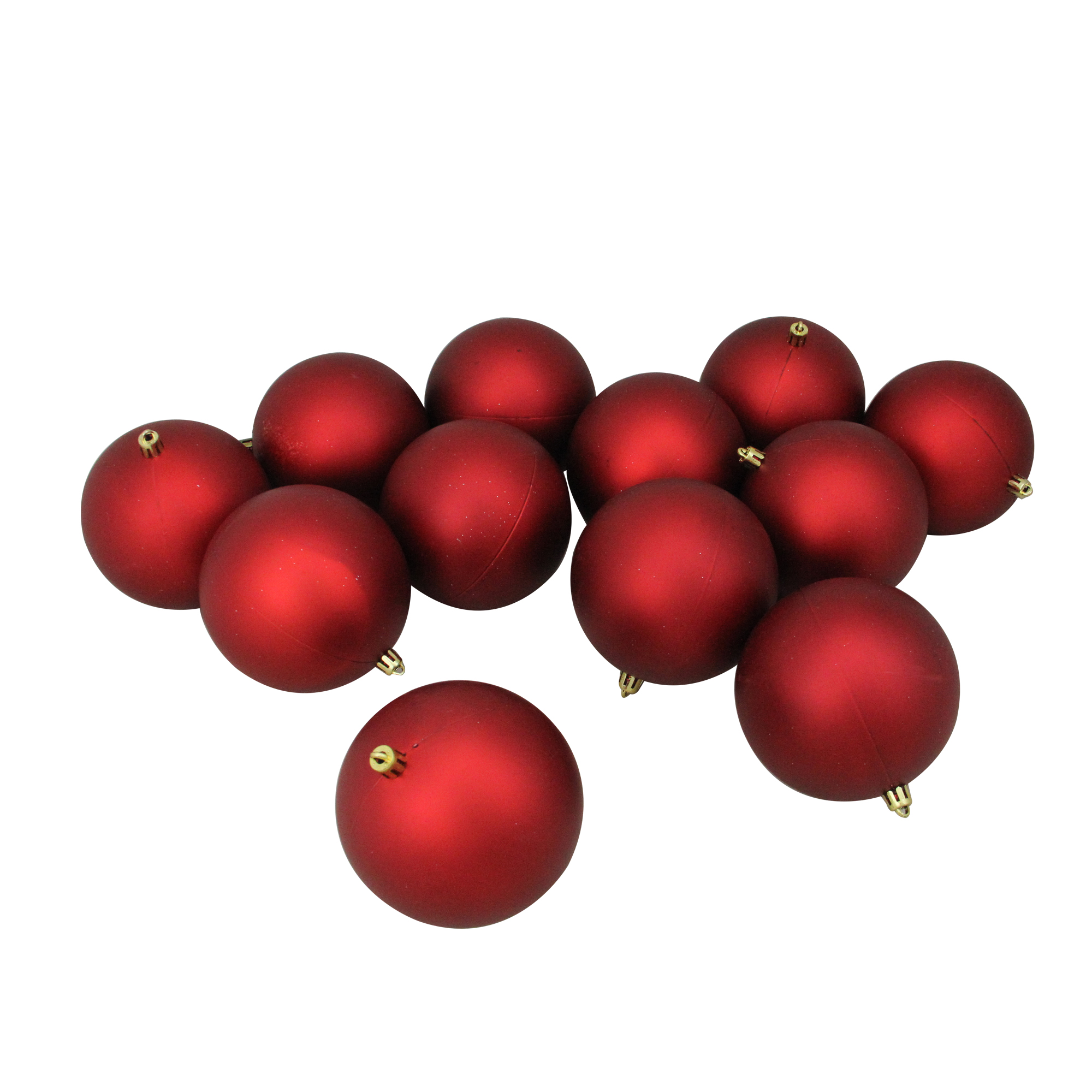 Red Christmas Ball Ornaments.Details About 12ct Red Shatterproof Matte Christmas Ball Ornaments 4 100mm