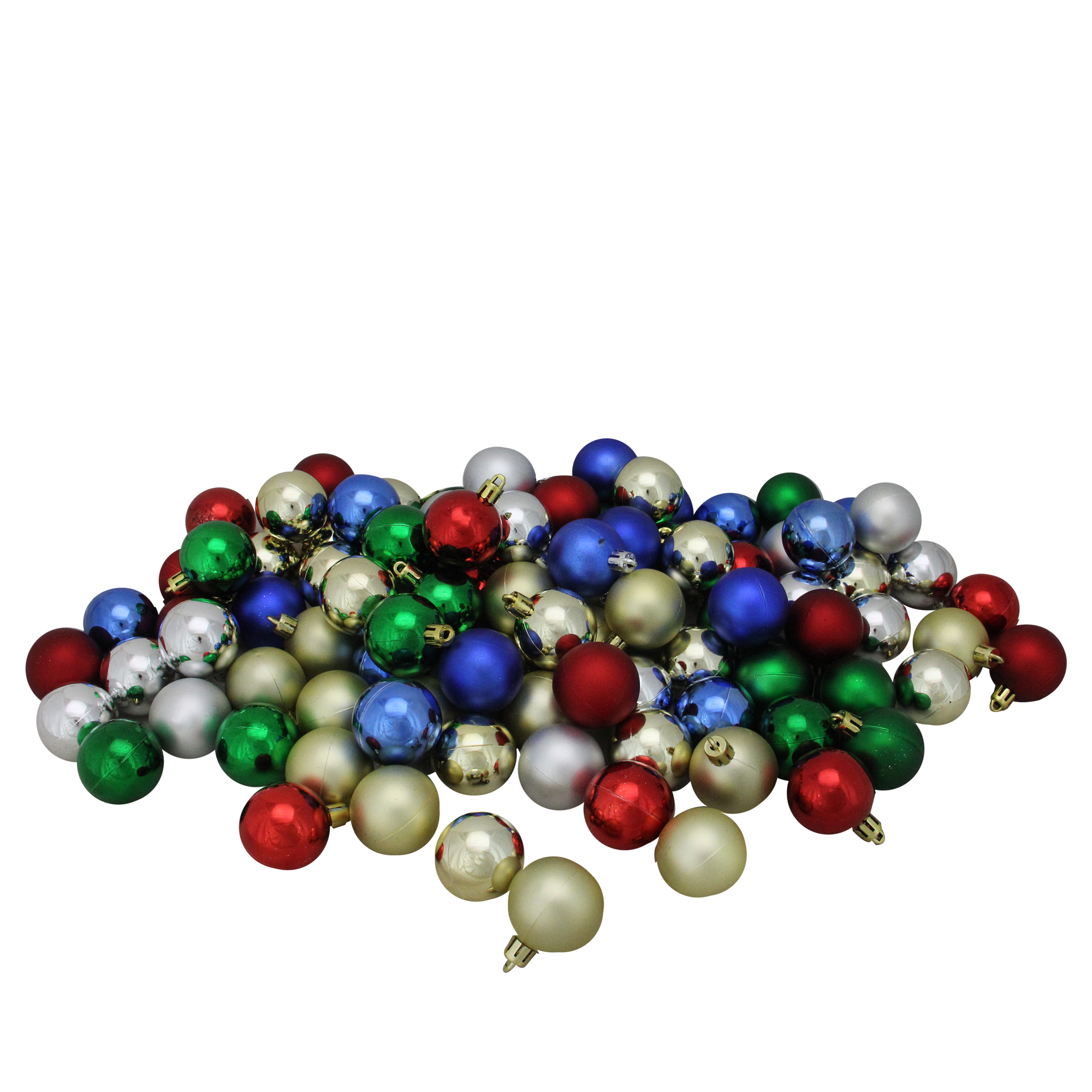 NORTHLIGHT 20ct Shatterproof Multi Color Shiny & Matte Christmas ...