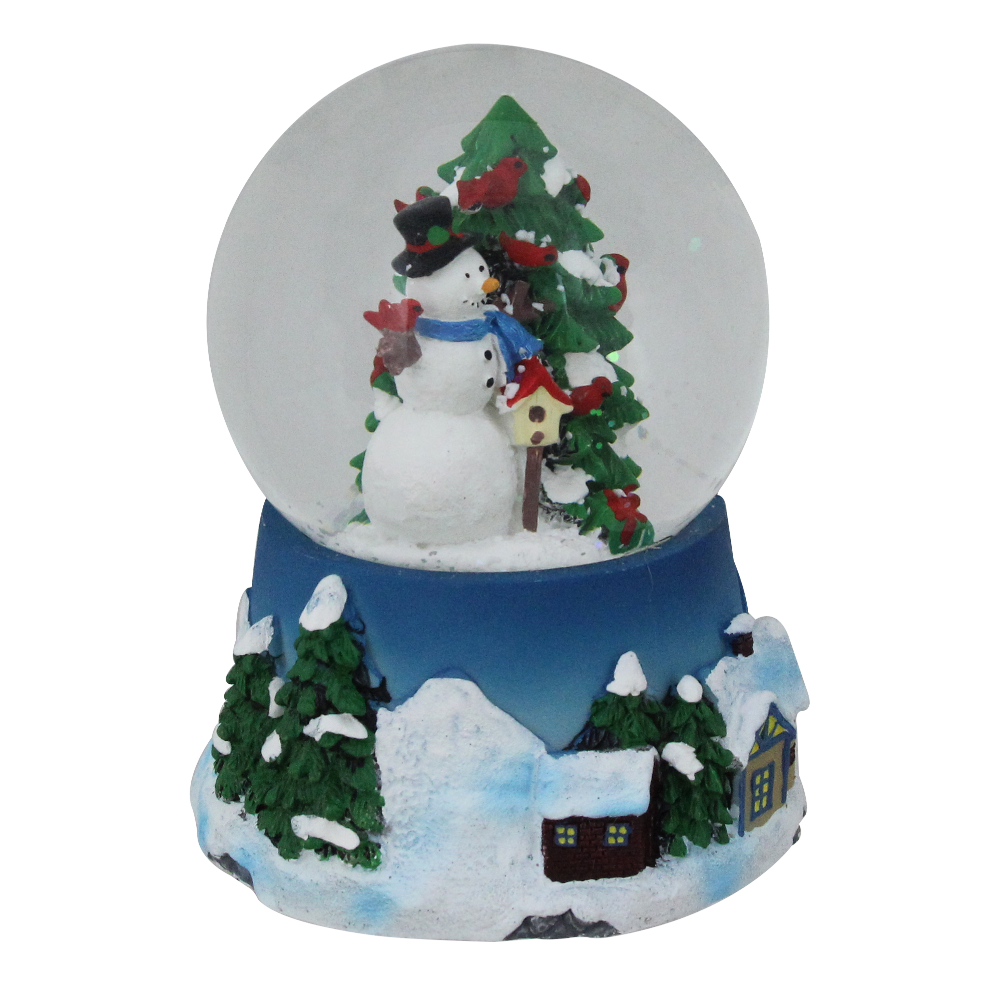 "Snowing And Musical Christmas Tree: Northlight 5"" Musical Snowman, Red Cardinal And Christmas"