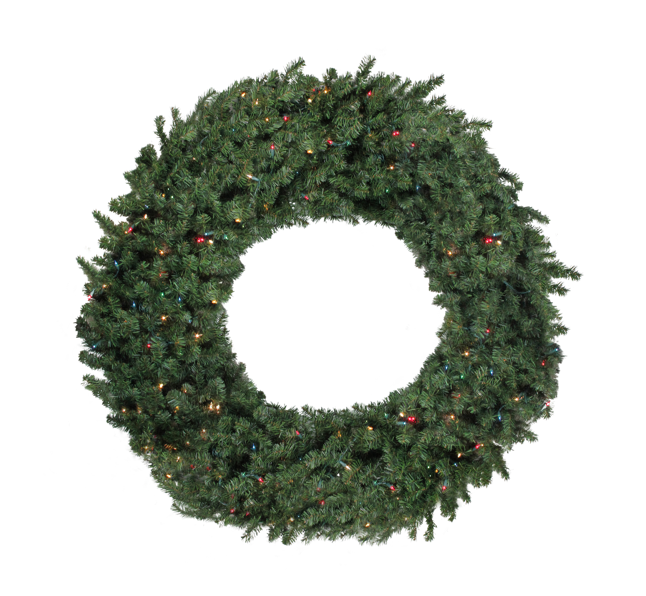 72 pre lit commercial canadian pine artificial christmas wreath multi lights - Commercial Christmas Decorations Canada