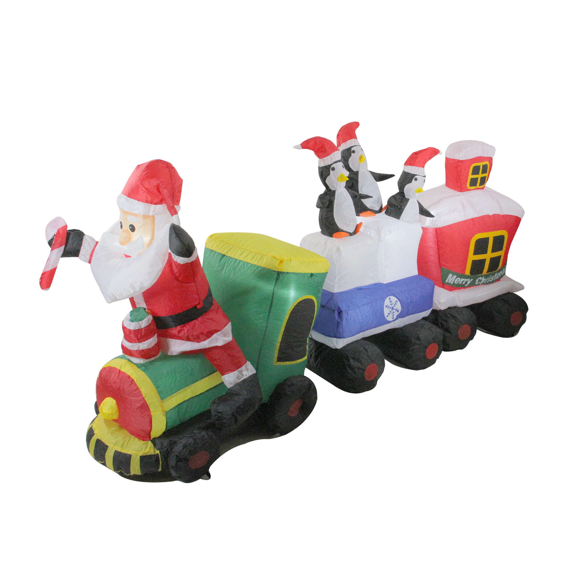 Northlight 6' Inflatable Santa Claus Train Lighted ...