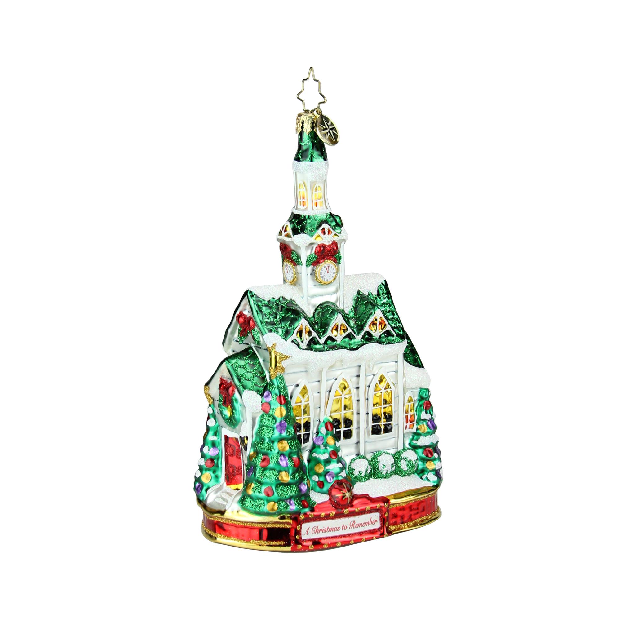 "7"" Christopher Radko ""Blessed Gathering"" Glass Christmas ..."