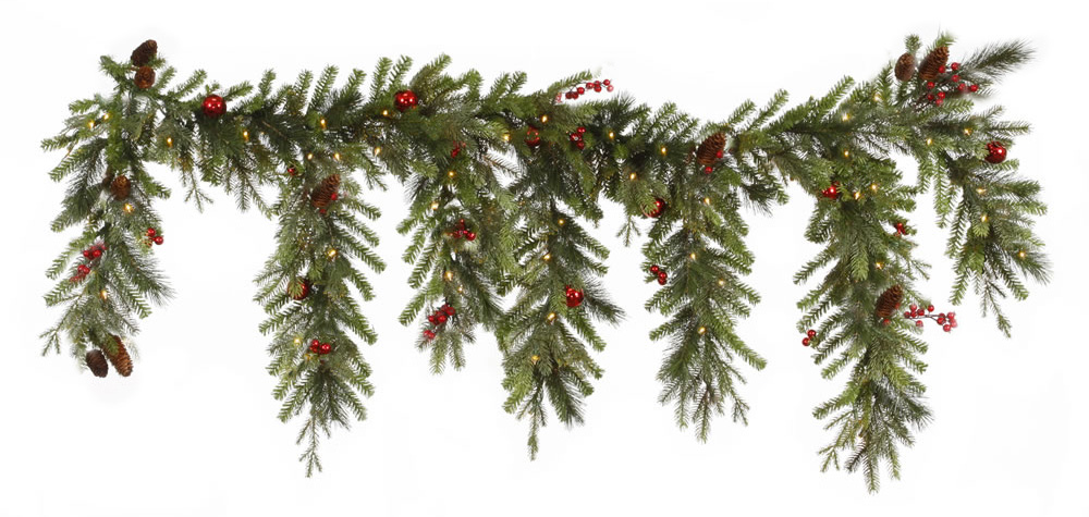 "Vickerman 6.5' X 35"" Red Berry Ball Artificial Christmas"