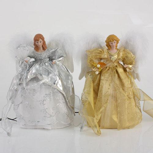 14 animated led lighted fiber optic gold angel christmas tree topper ebay. Black Bedroom Furniture Sets. Home Design Ideas