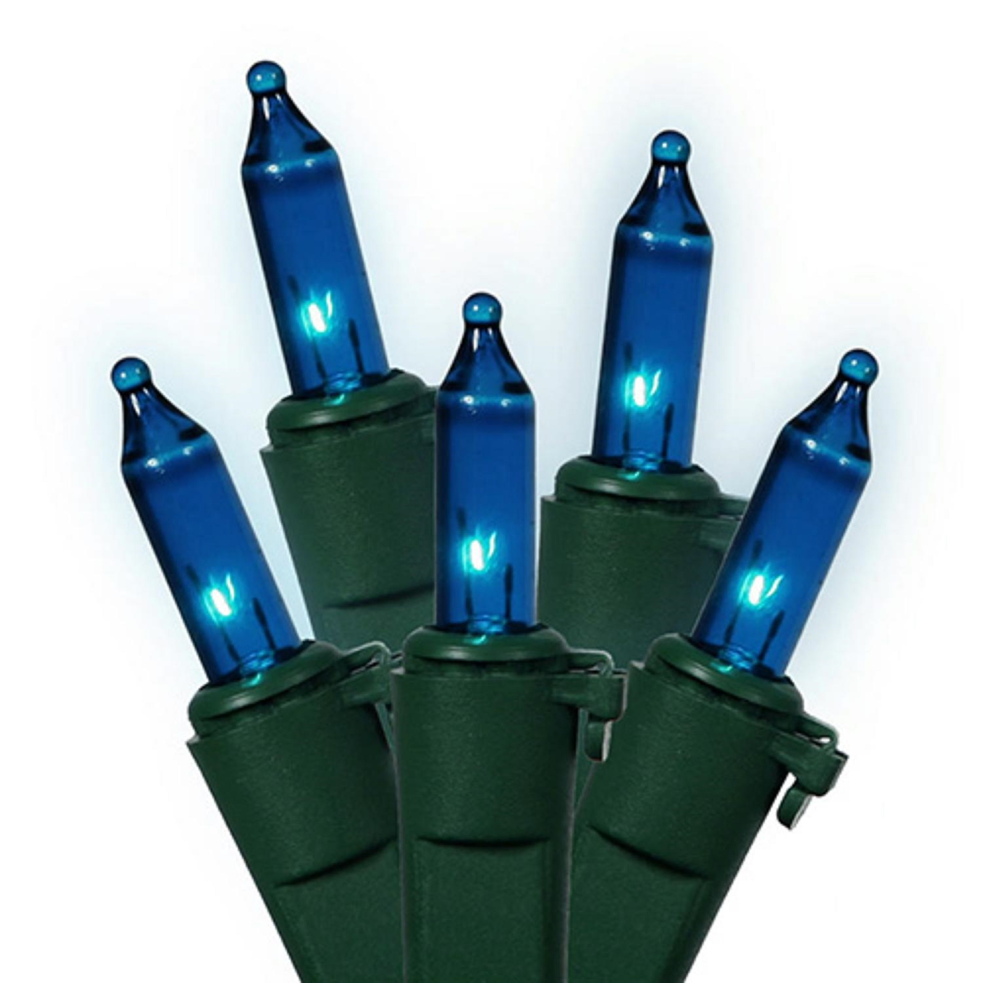 Mini Christmas Lights.Details About Vickerman Set Of 50 Blue Mini Indoor Outdoor Christmas Lights 120v Green Wire