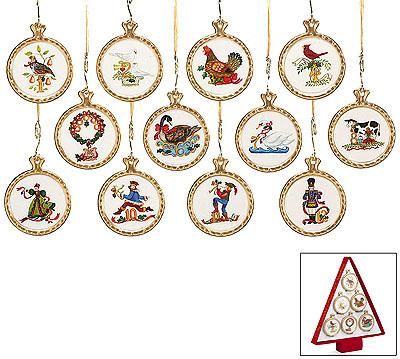 12 TWELVE Days of CHRISTMAS Ceramic Ornaments   eBay