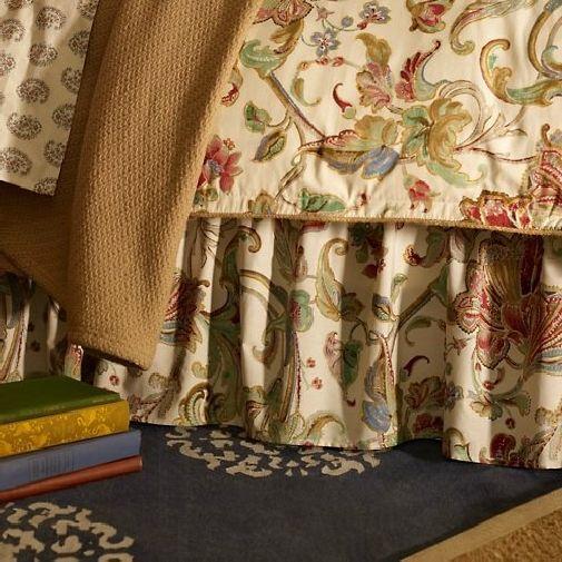 Ralph Lauren Antigua Floral Queen Cotton Bedskirt Multi