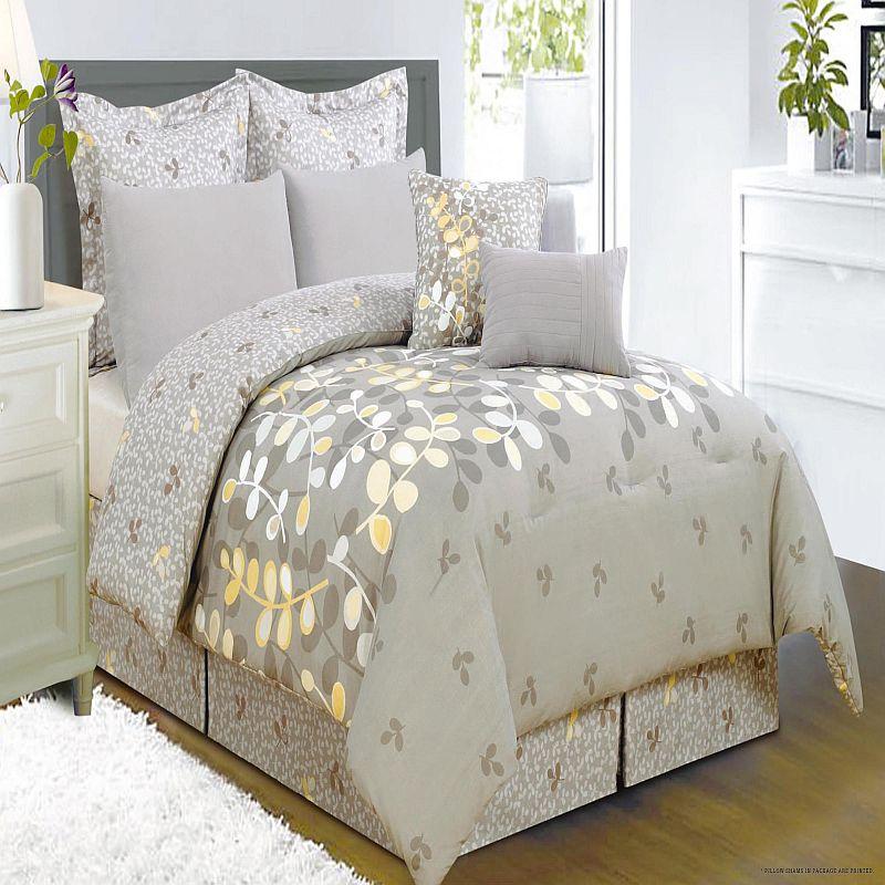 Eliana Grays Yellow Comforter Bed In A Bag Set Queen Ebay