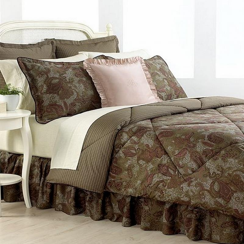 Ralph Lauren King Size Bedding Sets Comforter Best Beds: Ralph Lauren Hayden King Comforter Burgundy/Green/Taupe