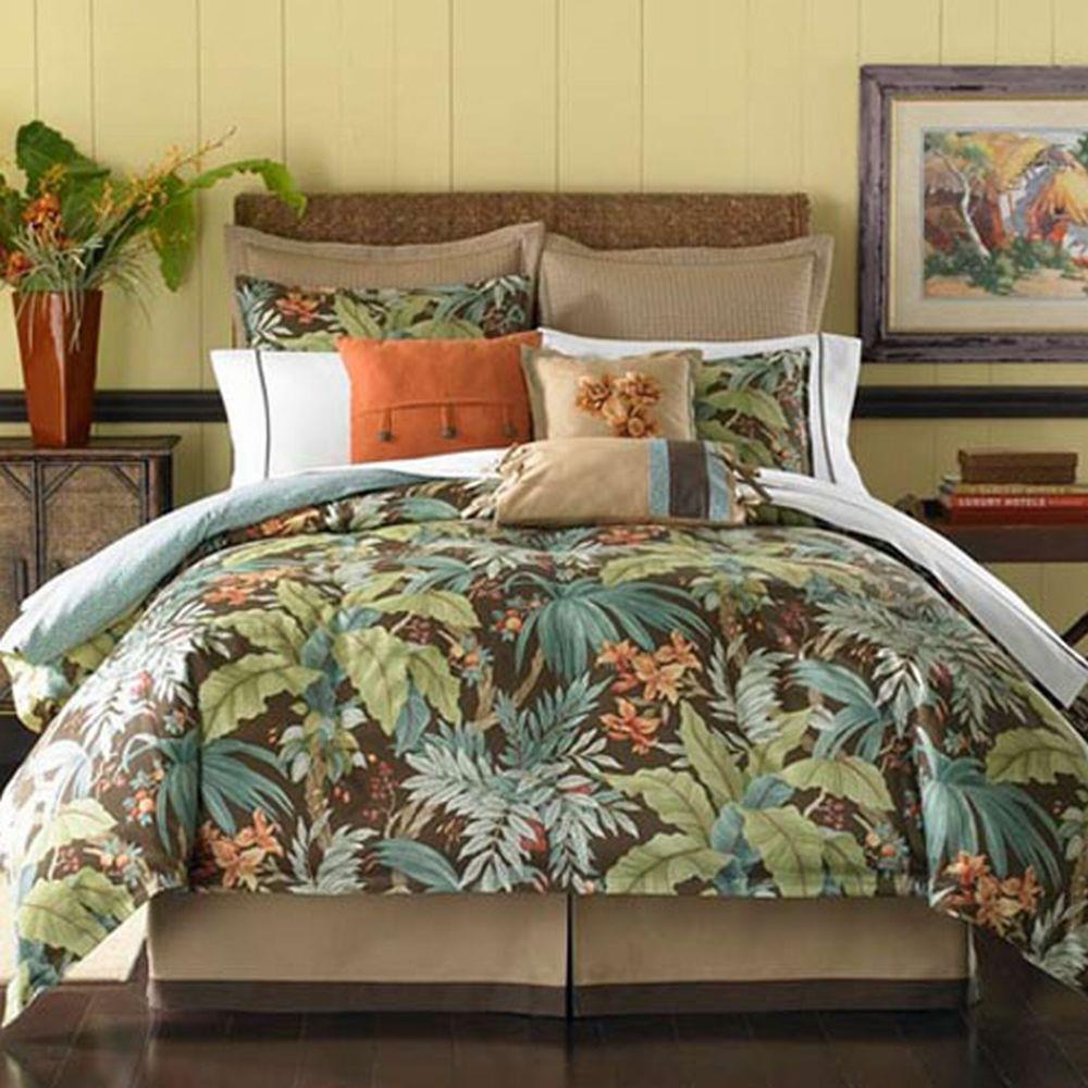 Coastal Life Key West Oversize Cal King 8 Piece Comforter