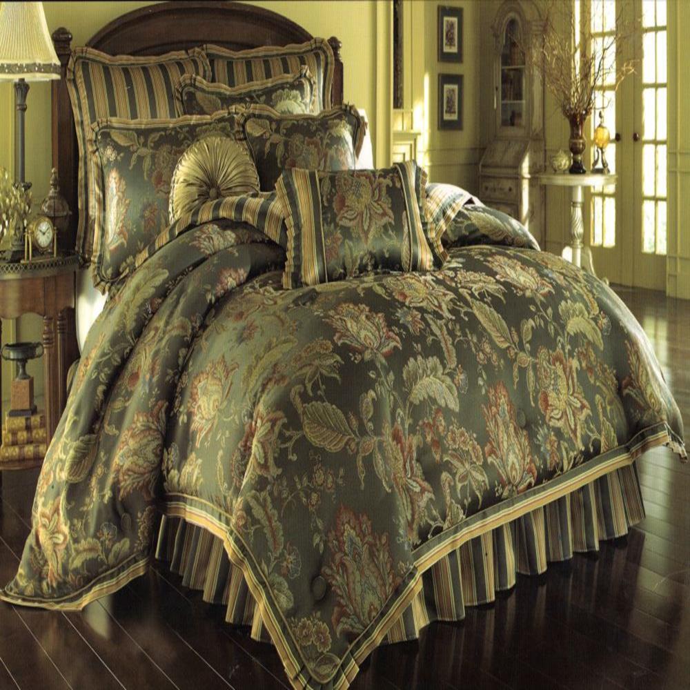 J Queen Knightsbridge King 4 Piece Comforter Bed In A Bag