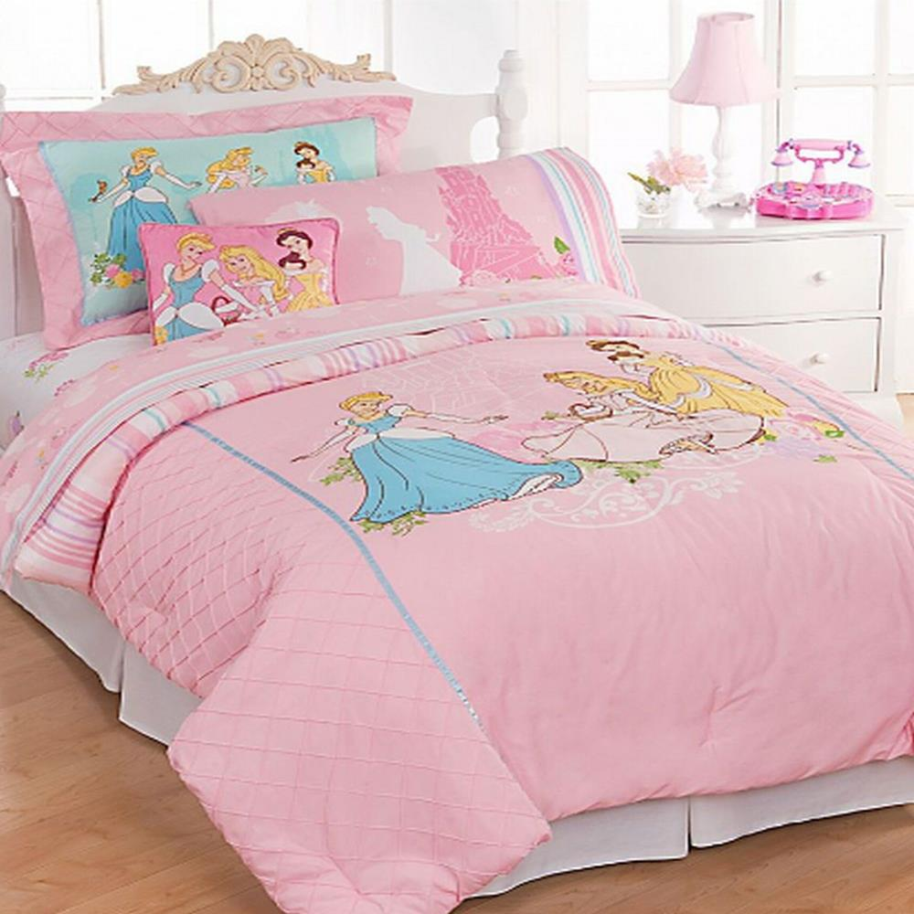 disney bedding princess twin comforter bed in a bag set ebay. Black Bedroom Furniture Sets. Home Design Ideas