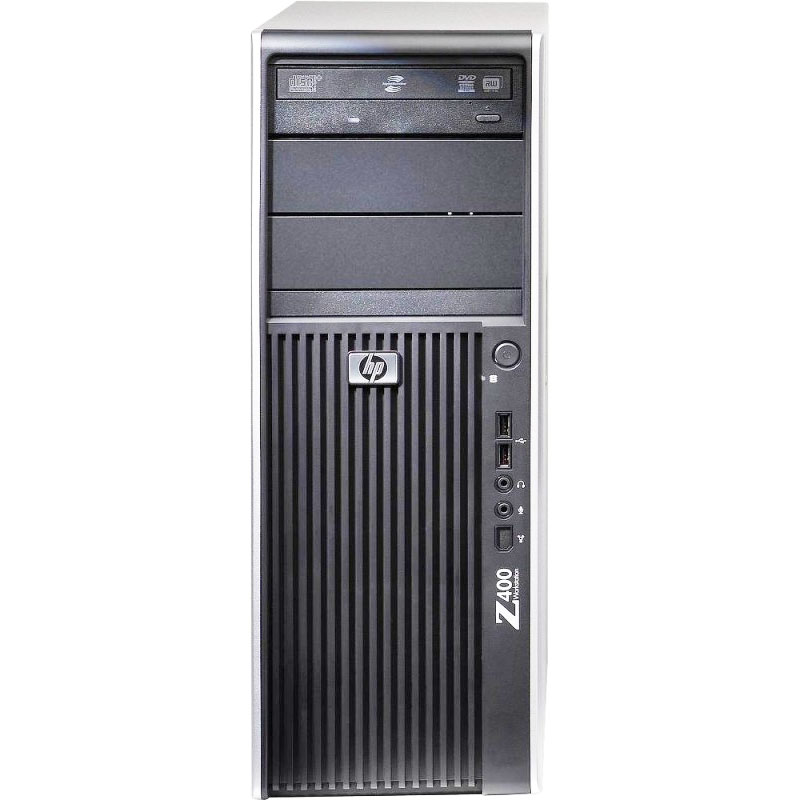 HP Z400 Workstation 3.0GHz XQC 12GB 500GB DVD Win 10 Pro 64 Tower Computer