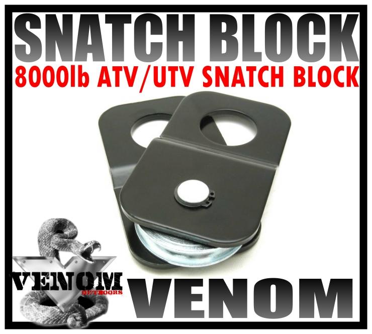 VENOM ATV UTV Winch Cover Neoprene Weatherproof Compression Fit Heavy Duty