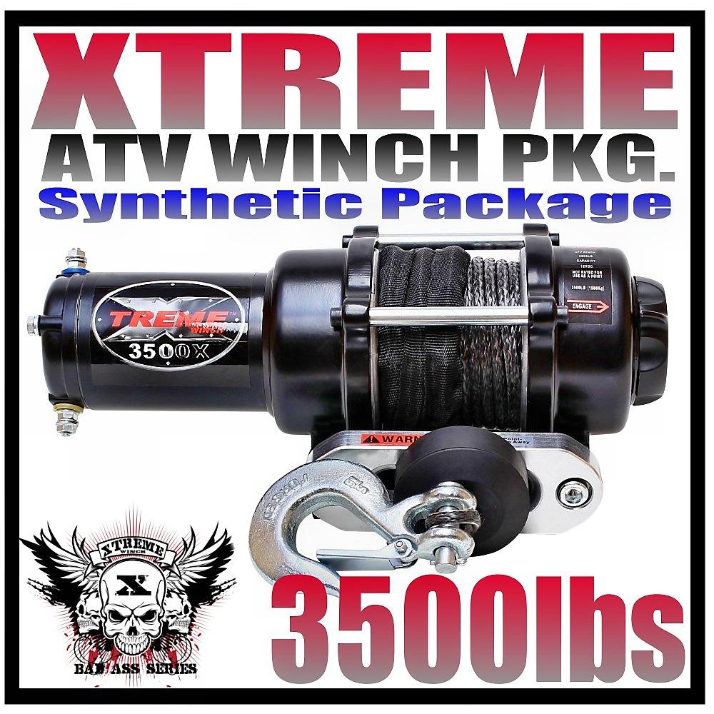3500LB ATV Winch 3500 LB BRAND NEW WATERPROOF KIT RT