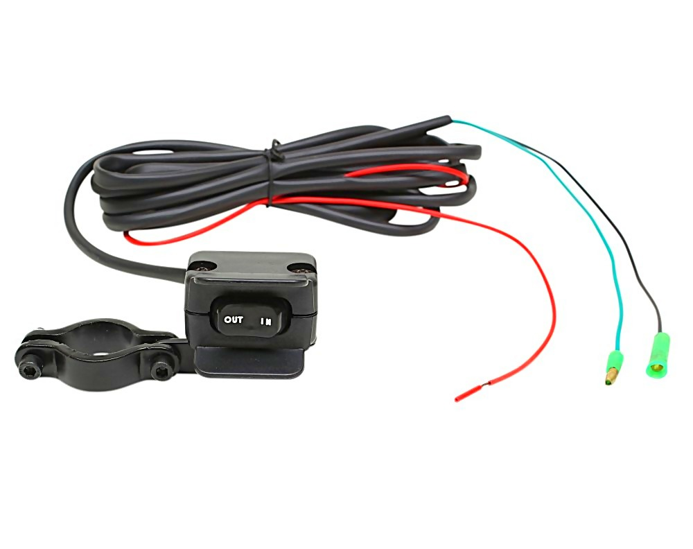 Xtreme Universal Atv Utv Winch Handlebar Mini Thumbswitch Rocker Switch Wiring Mount Fits All Winches