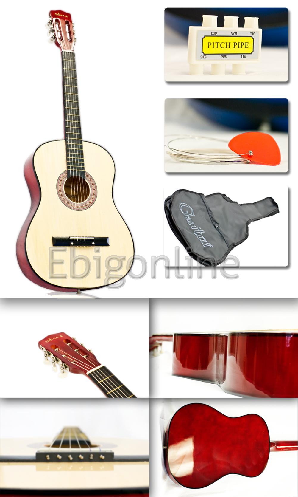 Guitar Accessories Combo : new acoustic guitar w accessories combo kit beginners ebay ~ Russianpoet.info Haus und Dekorationen