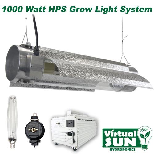 Virtual Sun 1000W HPS Cool Tube Reflector Grow Light Lamp Kit ...