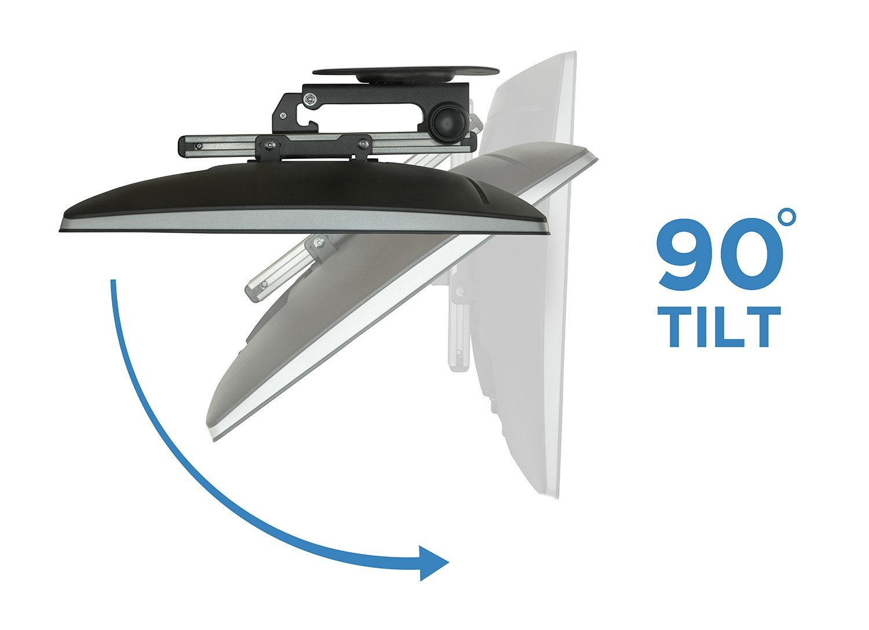 arrowmounts folding ceiling under cabinet tv mount 13 27 am pbc107 ebay. Black Bedroom Furniture Sets. Home Design Ideas