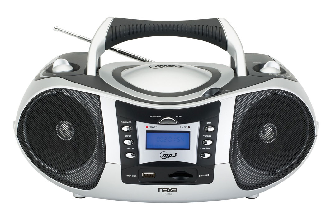 naxa npb 250 ac dc portable mp3 cd player with am fm stereo radio 840005001592 ebay. Black Bedroom Furniture Sets. Home Design Ideas