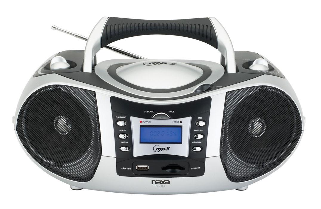 naxa npb 250 ac dc portable mp3 cd player with am fm. Black Bedroom Furniture Sets. Home Design Ideas