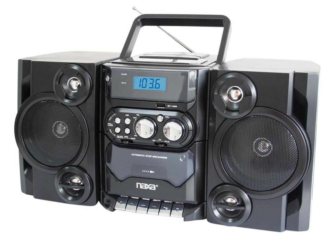 Naxa RBNPB 428 Portable  CD Player with Am FM Stereo Radio Cassette Player