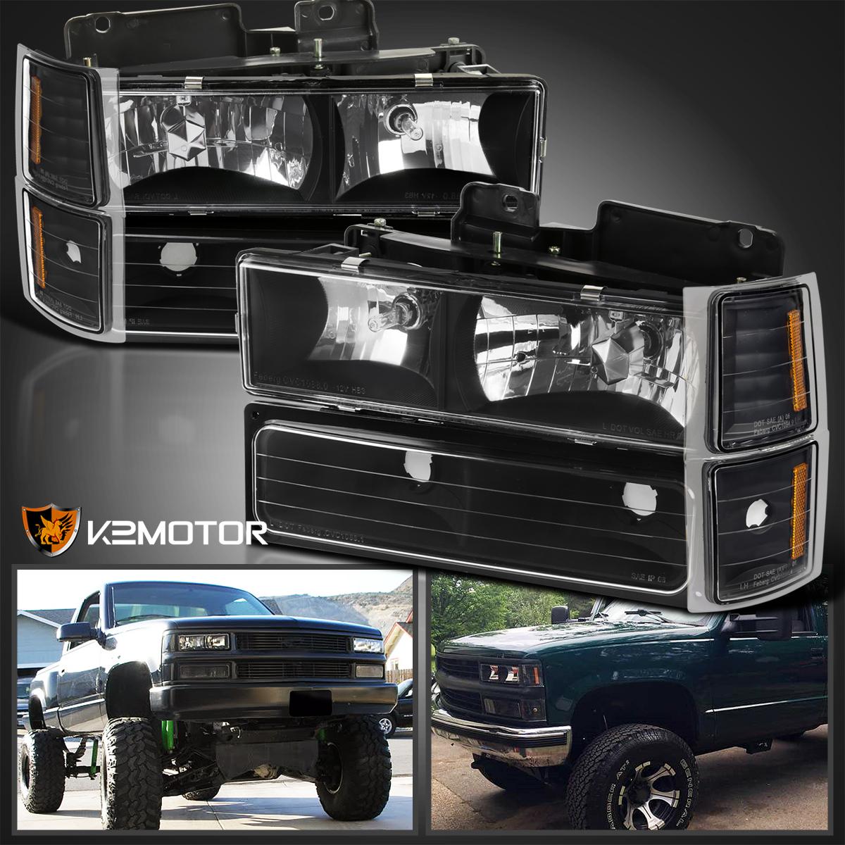 1994-1998 Chevy C//K 1500 2500 3500 C10 Tahoe Suburban Headlights Corner Bumper