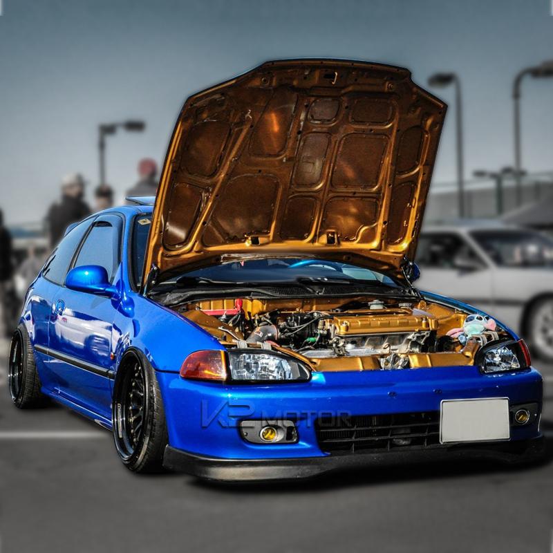 For 92-95 Honda Civic 2Dr/3Dr EG EH EJ JDM Black