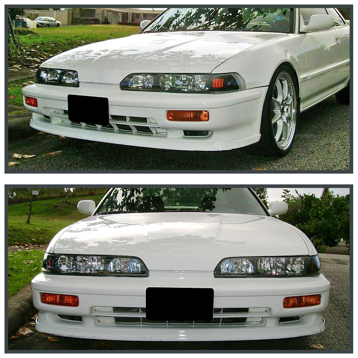 Fits Acura Integra JDM Black Piece Replacement Headlights - 1991 acura integra headlights