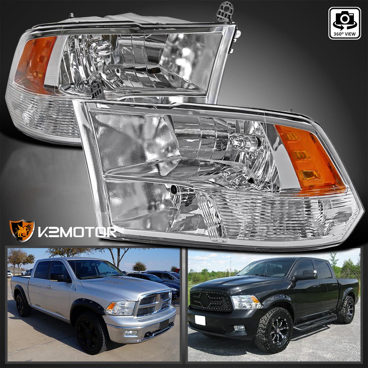 2009-2017 Dodge Ram 1500/2500/3500 Crystal Quad Headlights