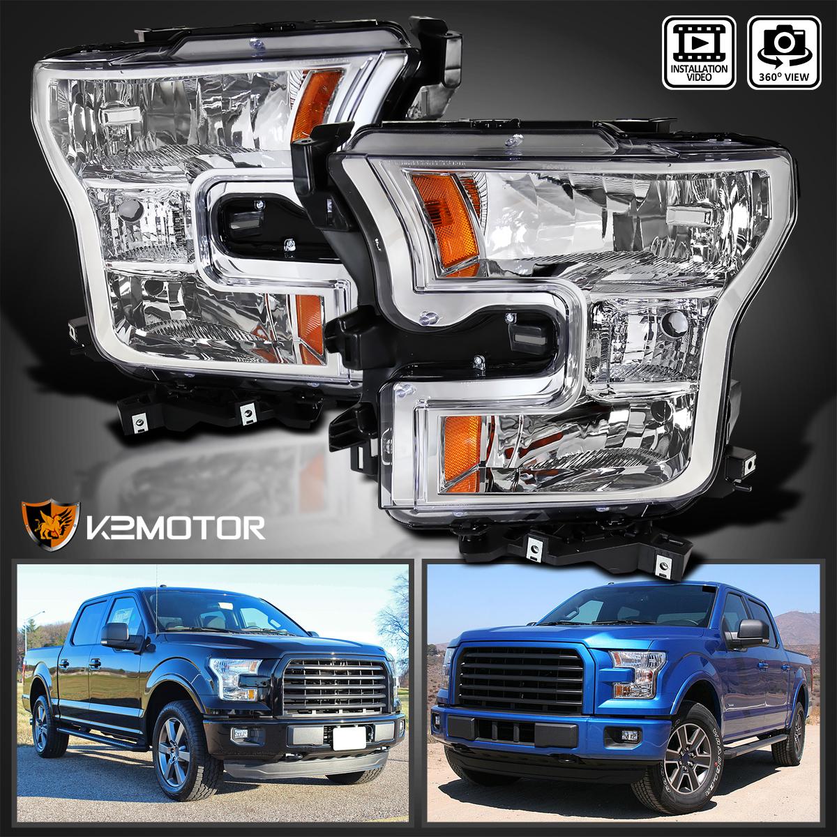 Spec-D Tuning 2LH-F15015-RS Chrome Headlight Crystal Housing