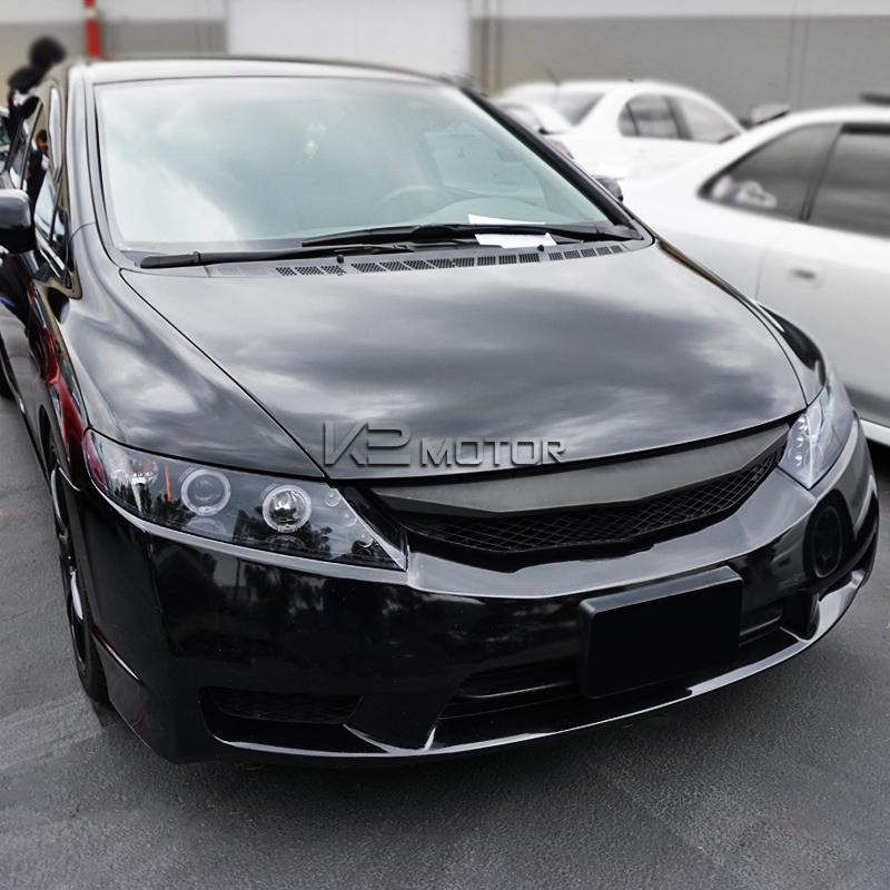 For 2006 2011 Honda Civic 4 Door Sedan LED Halo Projector Headlights Black