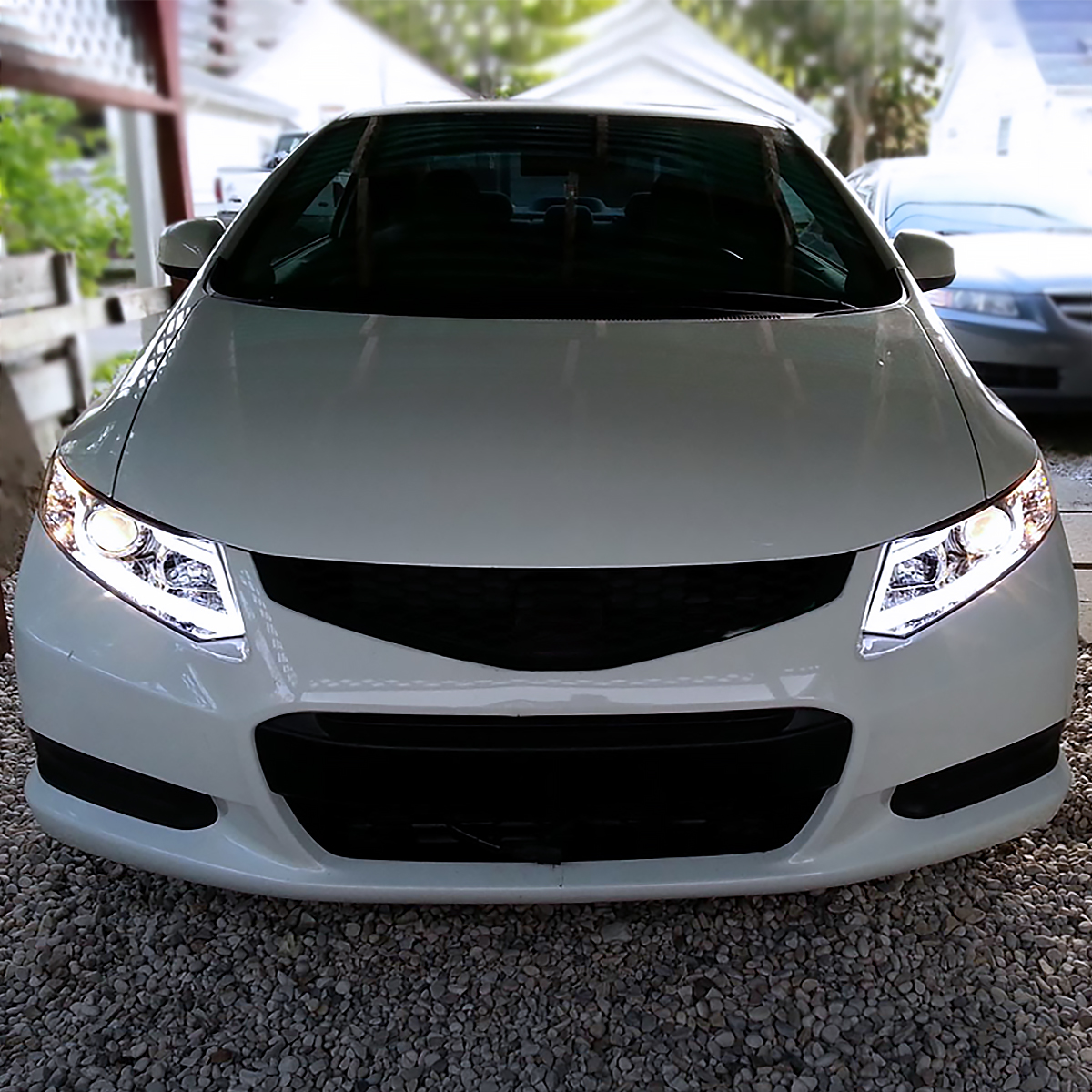 For 2012-2015 Honda Civic LED Light Bar Projector ...