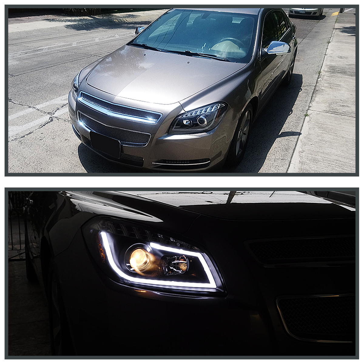 2008-2012 Chevy Malibu LED DRL Projector Headlights Lamps