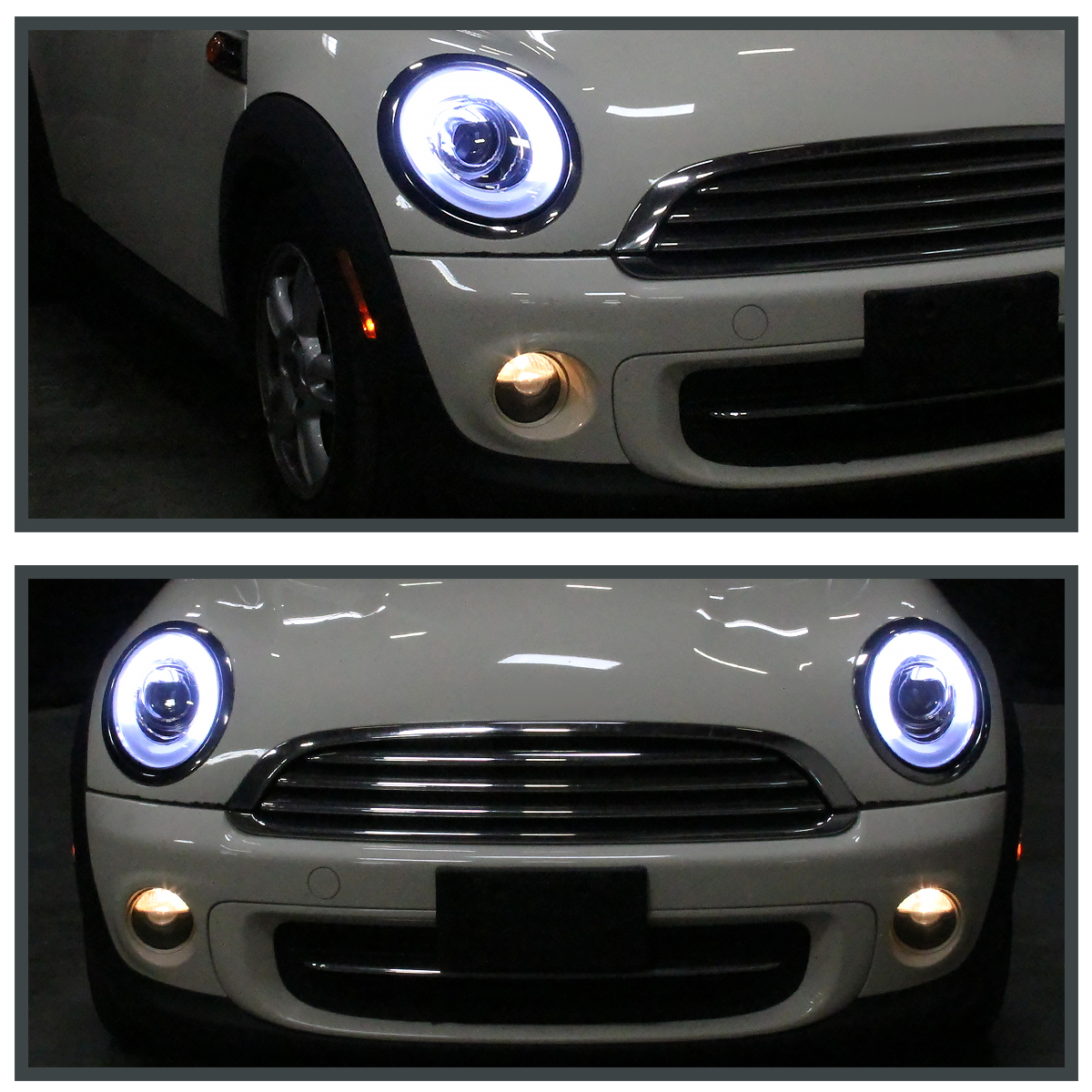 2012 Mini Hardtop Camshaft: 2007-2012 Mini Cooper Black Clear LED Bar Halo Ring