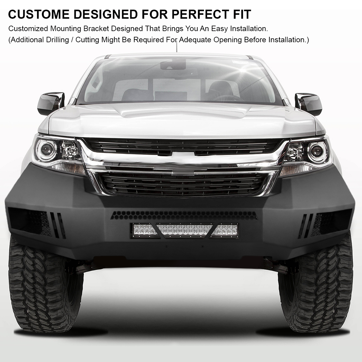 2015-2019 Chevy Colorado Armor Steel Heavy Duty Front