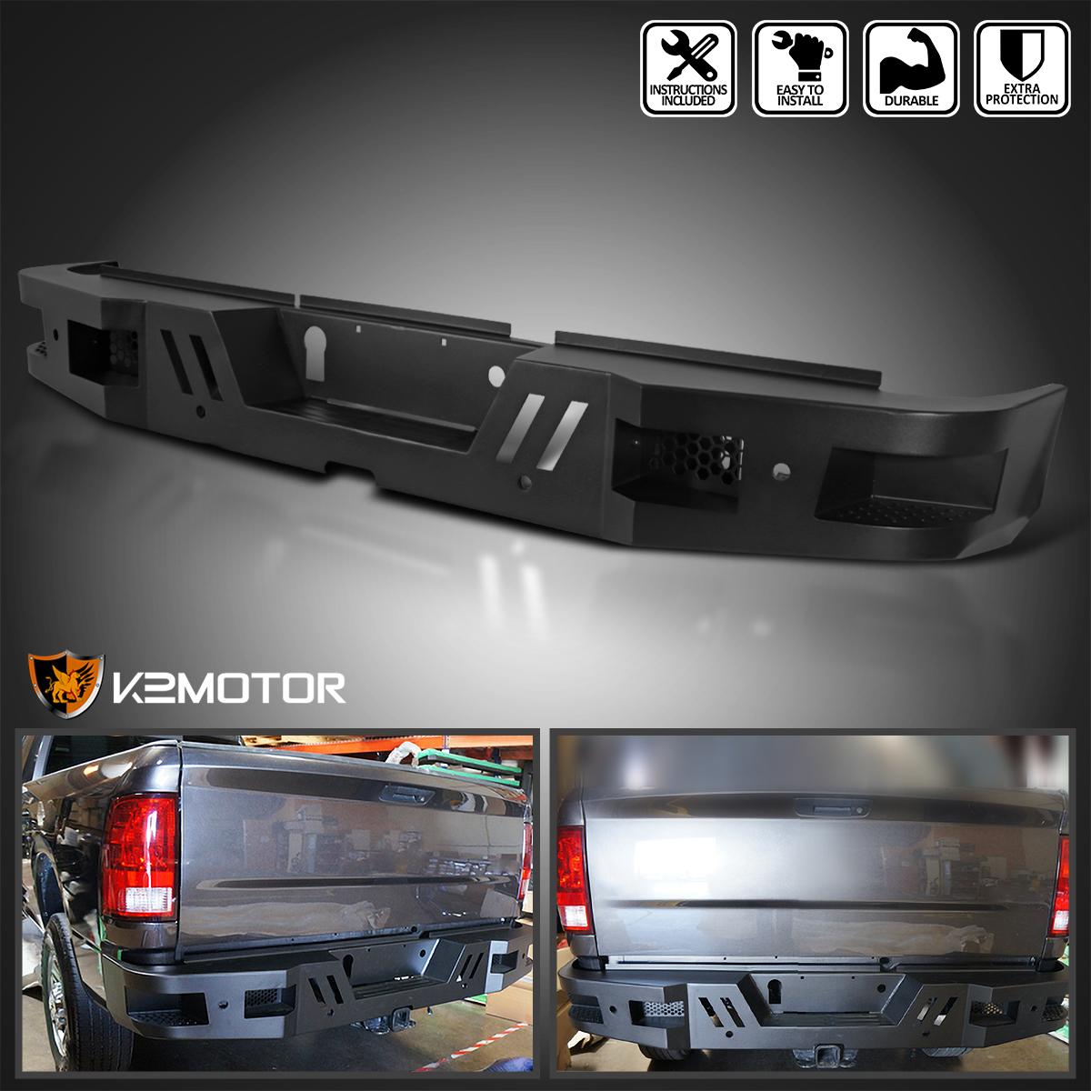2011-2019 Chevy Silverado GMC Sierra 2500 3500 Rear Step Bumper Guard HeavyDuty