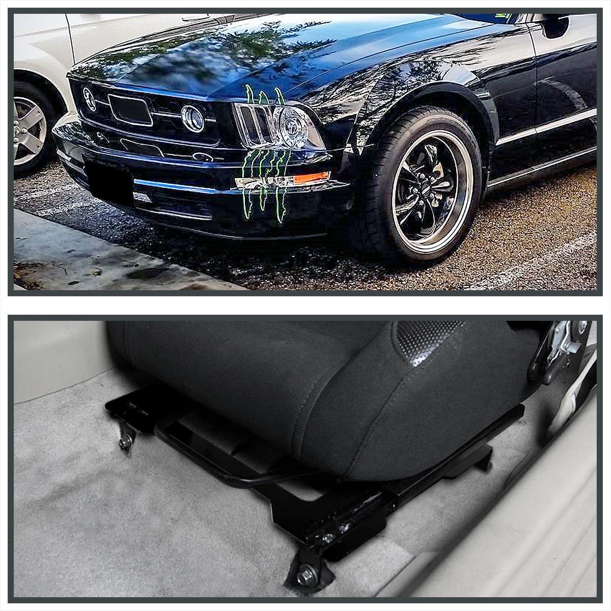 2005-2014 Ford Mustang GT V6 GT500 Laser Welded Mounting Brackets Rail Tracks