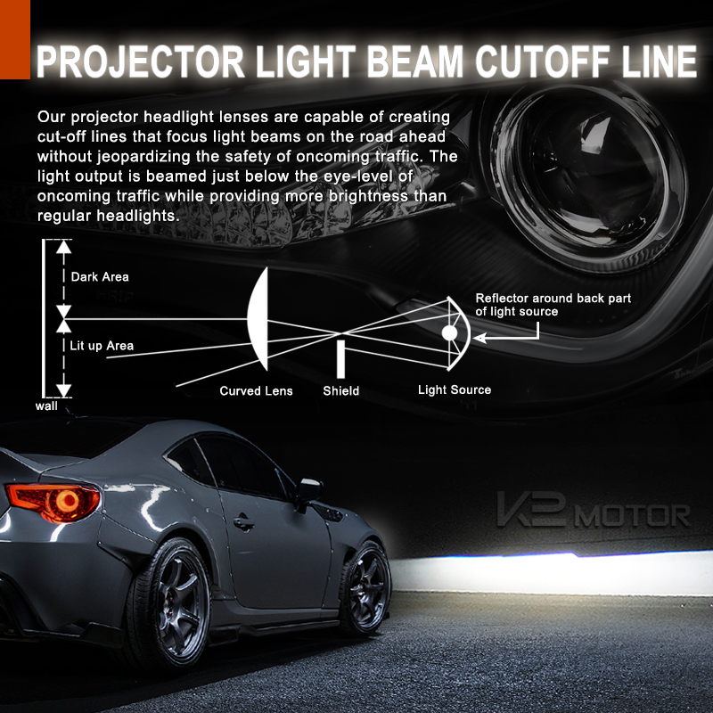 01-07 Mercedes Benz W3 C-Class LED DRL Strip Signal Projector Headlights 22