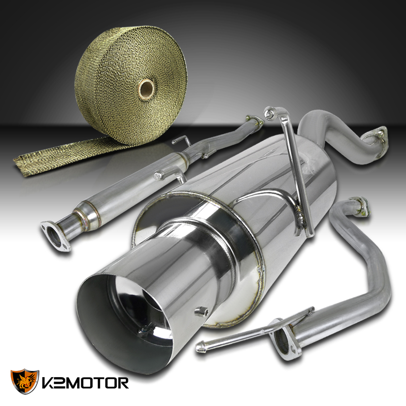 "94-01 Integra GS//LS//RS 4/"" Tip Stainless Steel Catback Exhaust Muffler System"