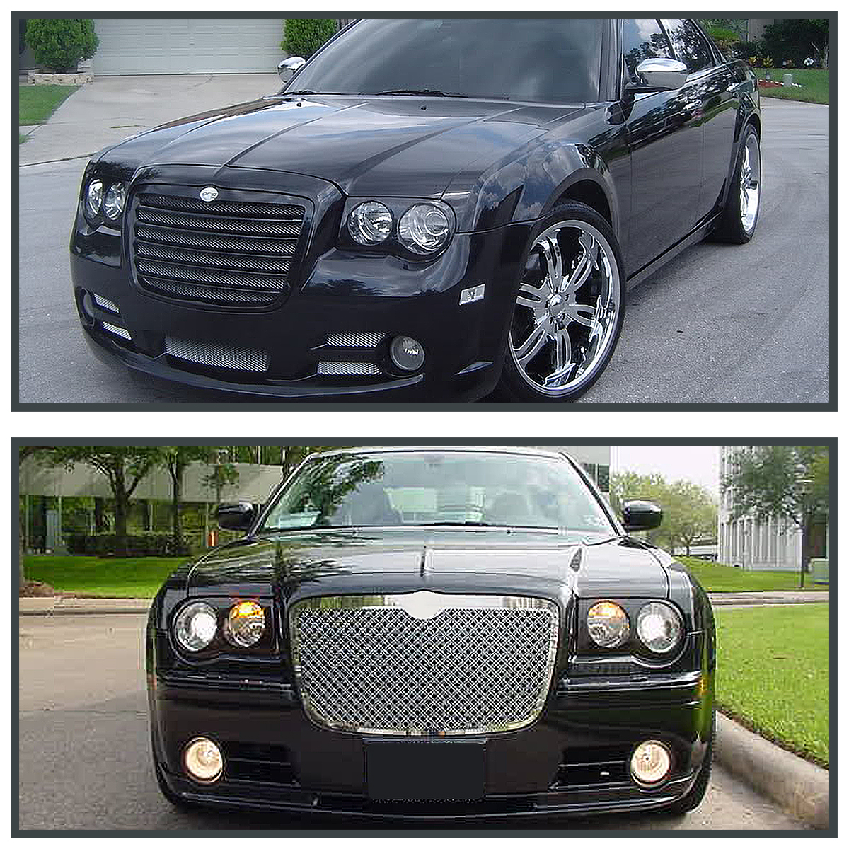 2005-2010 Chrysler 300C Headlight Covers Bezel Eyelids