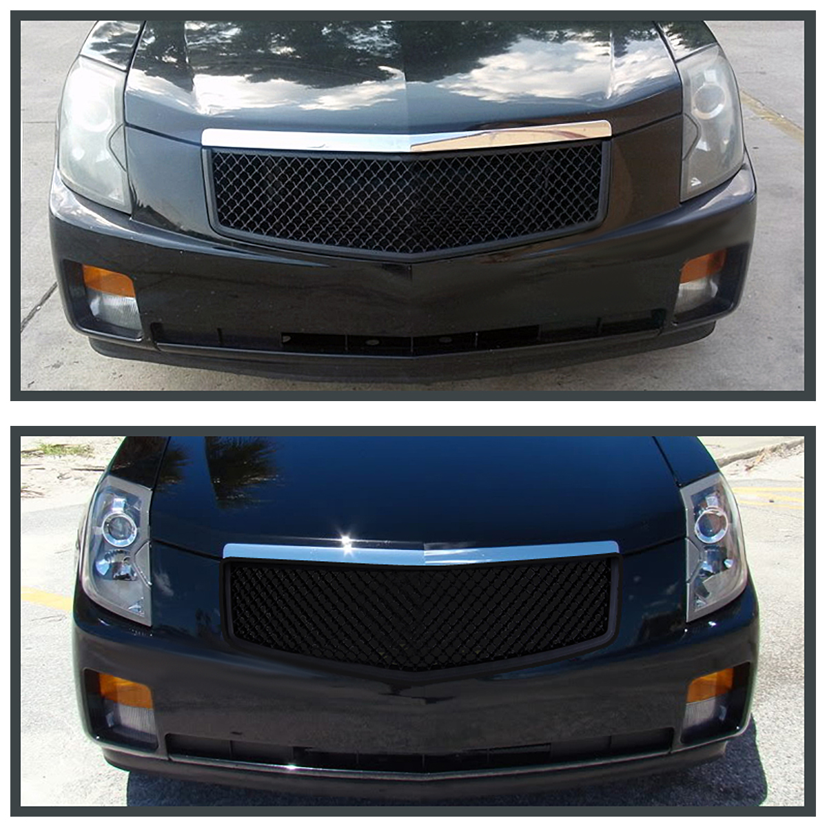 2003-2007 Cadillac CTS V ABS Mesh Front Hood Grill Matte