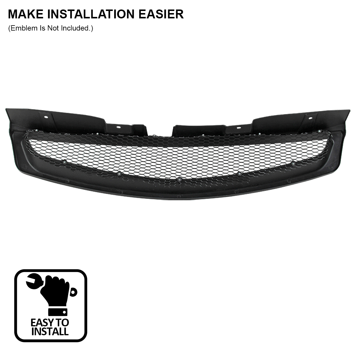 For 2003 2007 Infiniti G35 2dr Coupe Black Abs Front Bumper Mesh